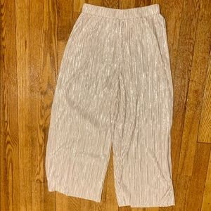 Forever 21 Metallic pink Silver Culottes S